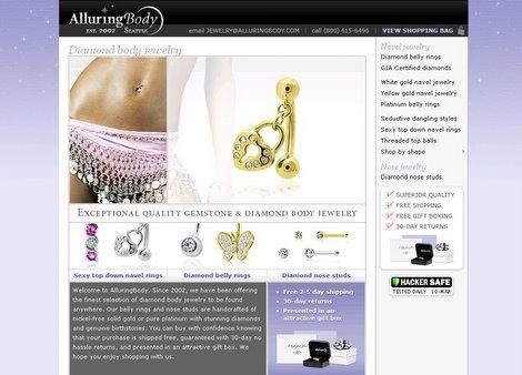 AlluringBody.com online jewelry store
