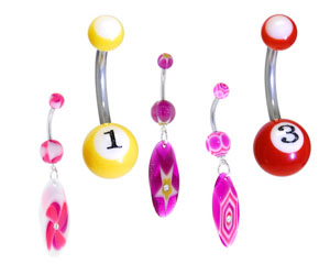 Acrylic Belly Rings