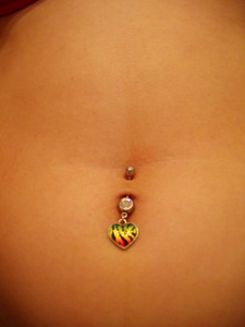 Brianna's Beautiful Belly Piercing