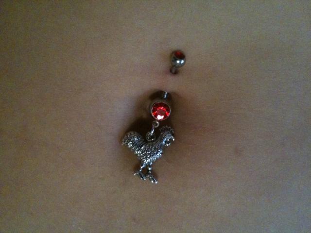 Belly piercing in Vegas